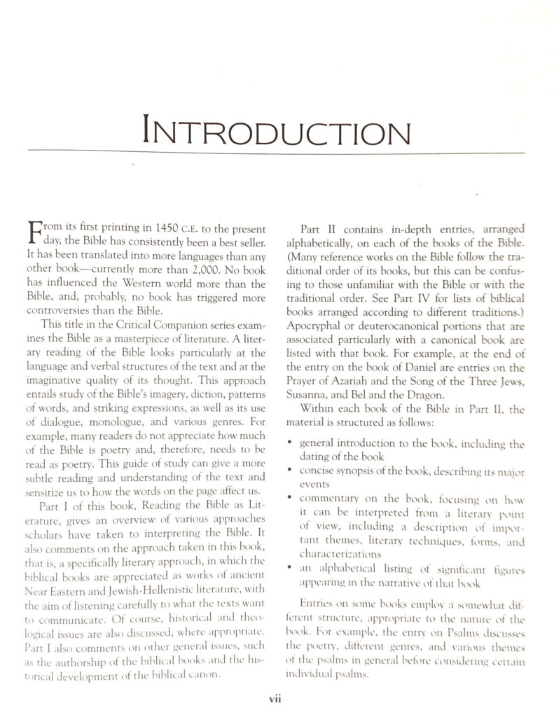 vii - Introduction
